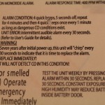 Self-destruct timer disclaimer on back of detector