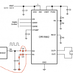 DRV8662 circuit with PWM input and modification for DC operation
