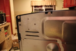 Rear cover reassembled. You can hardly tell it's been modified.