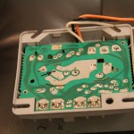 Underside of oil burner controller